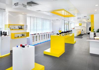 Nikon retail showroom, Warsaw, Poland