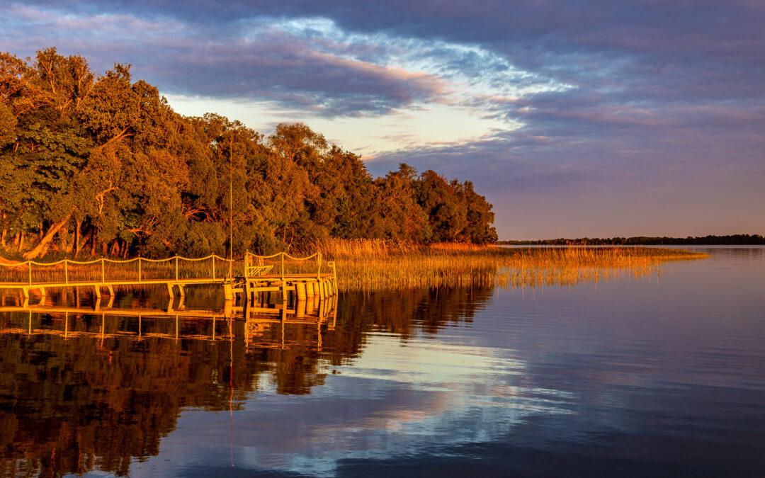 Mighty light over the Selmet Wielki lake!