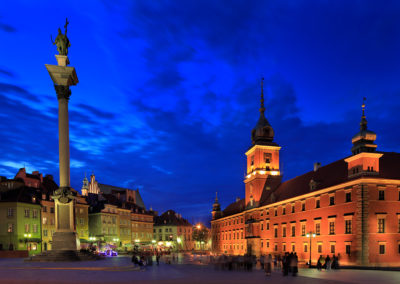 Old town Castle Square, Warsaw, Poland