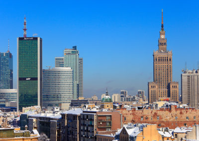 Downtown Warsaw, Poland