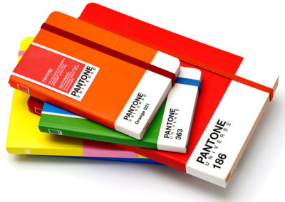 notebooks by Pantone