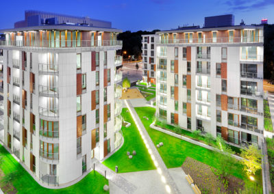 Powisle Park Apartments residential project, Warsaw, Poland