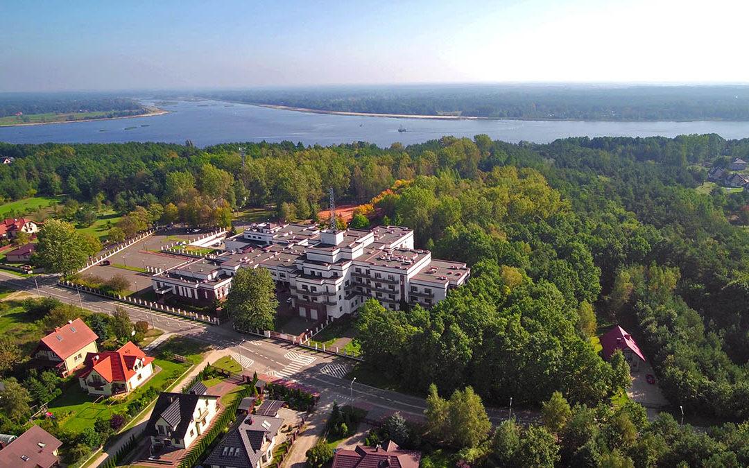 Training & recreational resort in Serock at Narew river in Poland