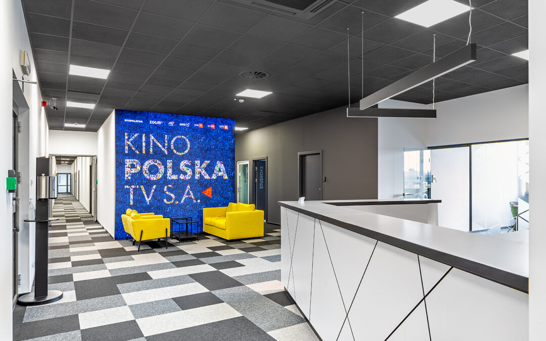 Modernistic office interior of Kino Polska TV